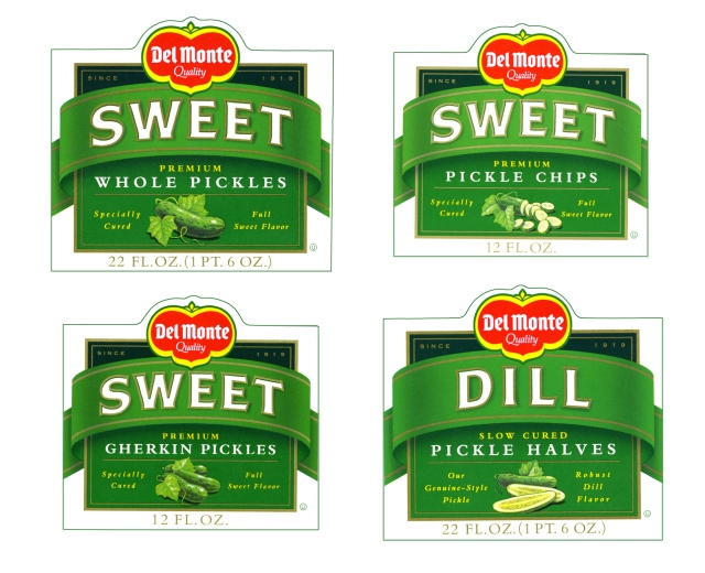 My illustrations adorn all of the Del Monte pickle jars. I'm only sharing this because my son broke a jar of them in the kitchen.