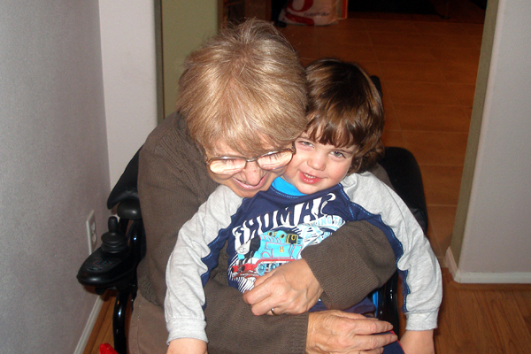 Magda and her step-grandson, Nicolas.