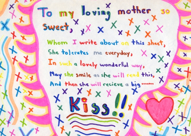 I wrote this to my mother as a child.