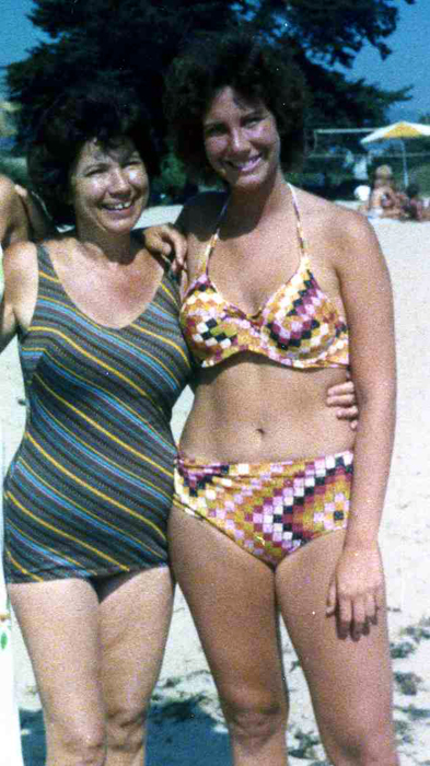 I found the evidence to show my daughter I wore a bikini in my prior life. I know she'll insist I used Photoshop!