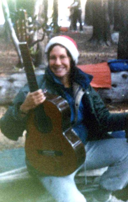 Guitar outdoors