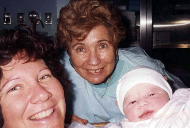 My mother was with me when all four of my children were born.