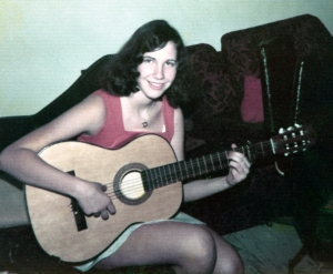 I began playing my guitar at the age of fifteen. I am sixteen in this picture.