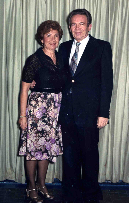 Lee & Shirley w. drapes