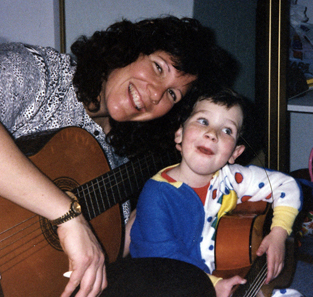 Jason & his mom playing guitar