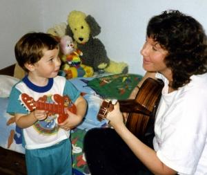Jason, Mom, & Guitar