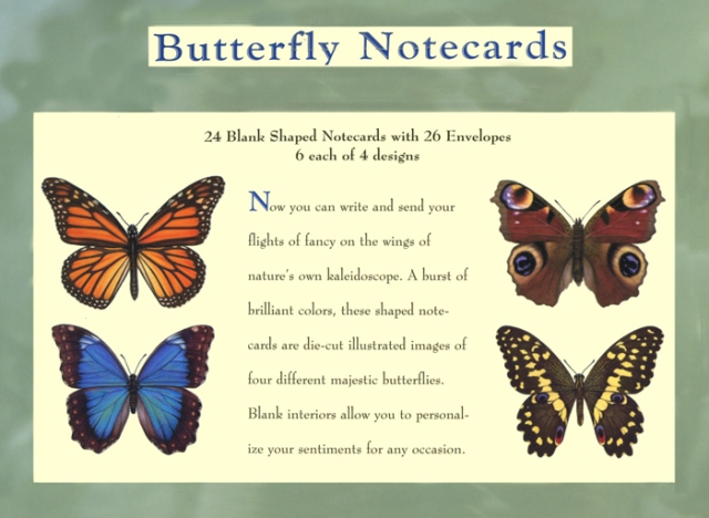 My butterfly illustrations were originally commissioned as notecards, early in my art career.