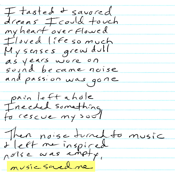 Music saved me