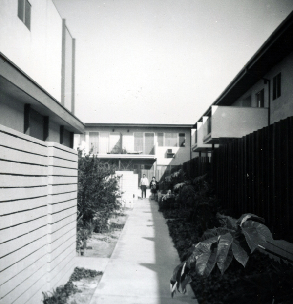 My coop's walkway 50 years ago.