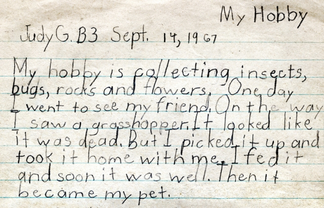 Before I discovered music, I had some strange hobbies when I was seven.