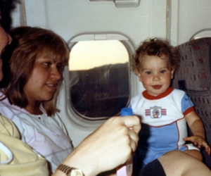 Jason on the airplane with Lupe 2
