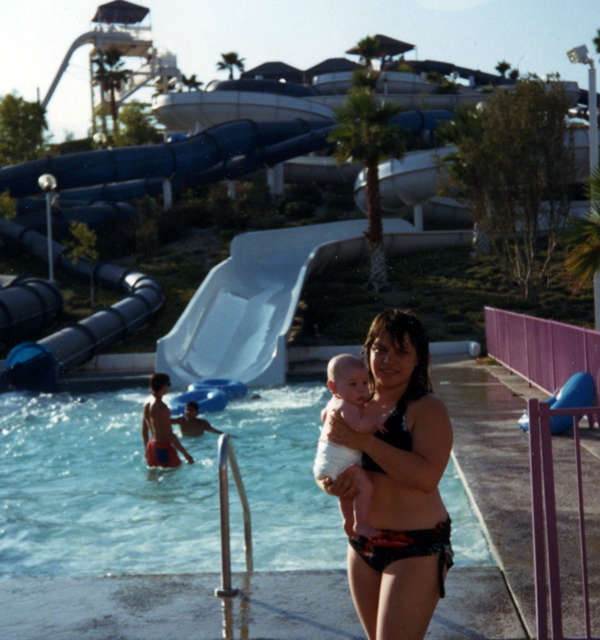 Lupe and Jason at the Waterpark