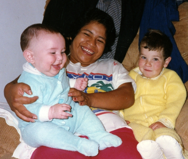 Rosa began working for me shortly before my second son was born (he is in her lap). She primarily took care of him and was not with me when Jason died, because she was visiting Mexico at the time.