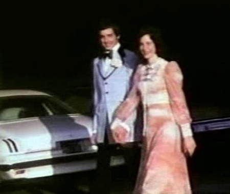 A video snap from my prom date with Sam in 1975 when I was 15 years old. Sam's car is parked in the same spot where my car is now parked!