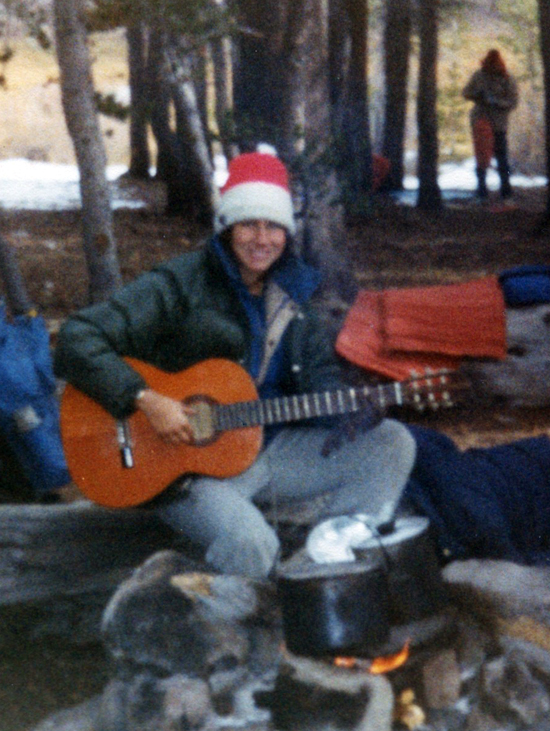 This picture was taken on a camping trip when I was in college. Playing my guitar around a campfire was so beautiful for me!