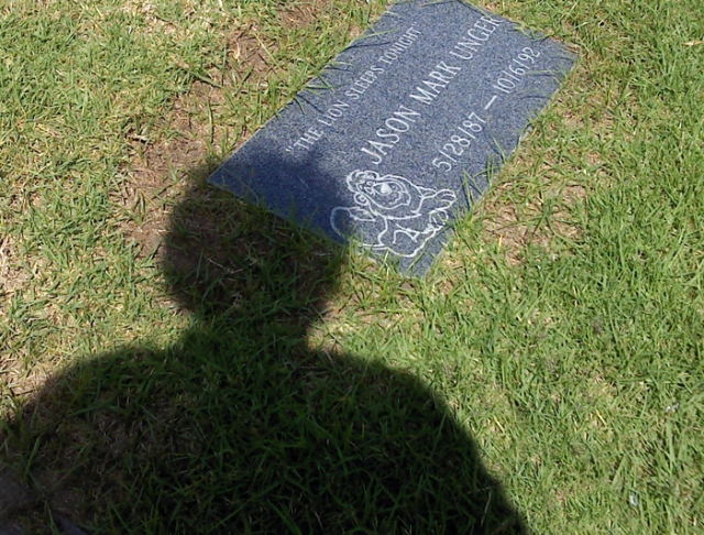 Jason's grave and shadow