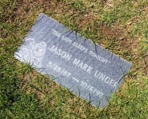 Jason's gravestone