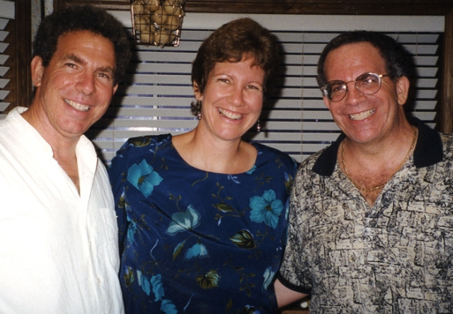 My brother, Howard, is on my left and Norman is on my right. This was taken 13 years ago at my 40th birthday party.