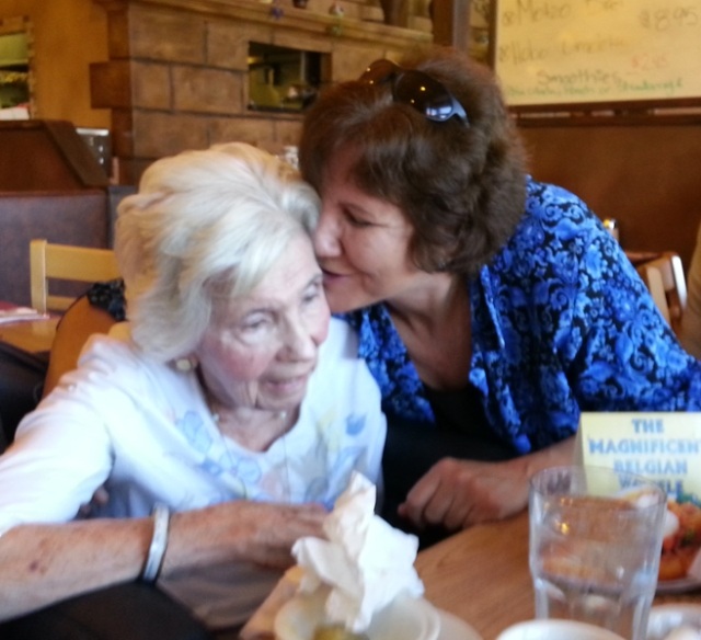 Judy kissing Shirley