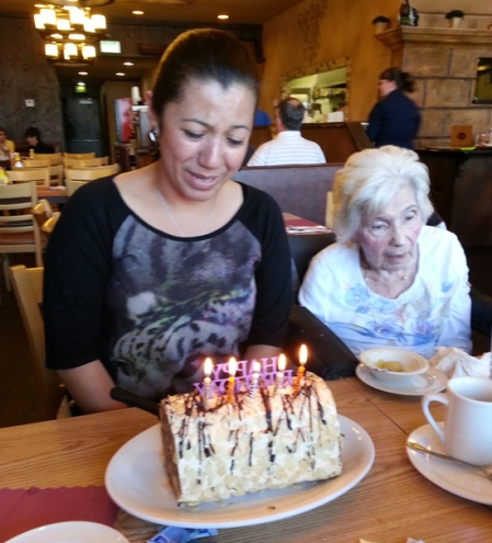Recently, Miriam had a birthday. She cryed with joy as we celebrated it.