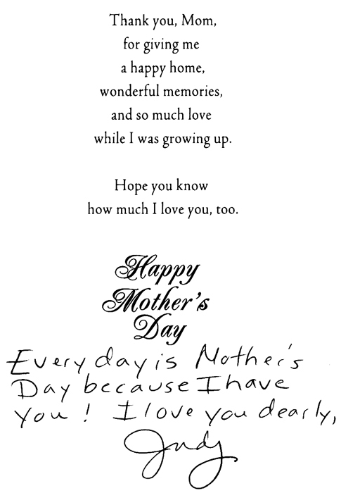 Mother's Day Card '13