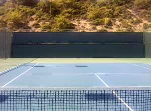 Tennis court clearly