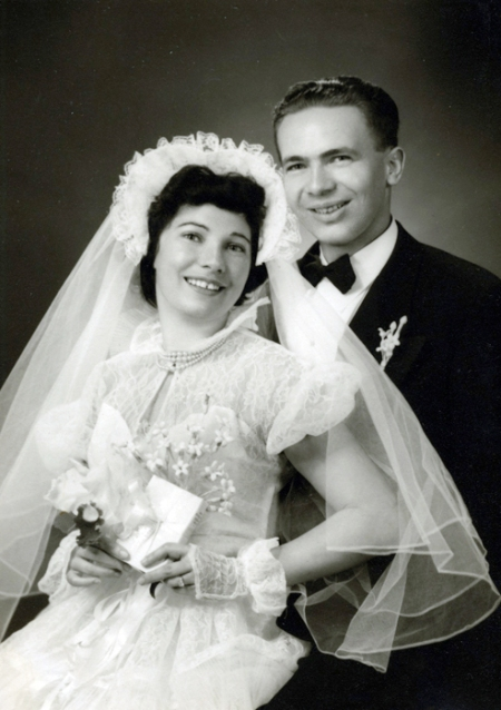 My parents' wedding portrait from 1950.