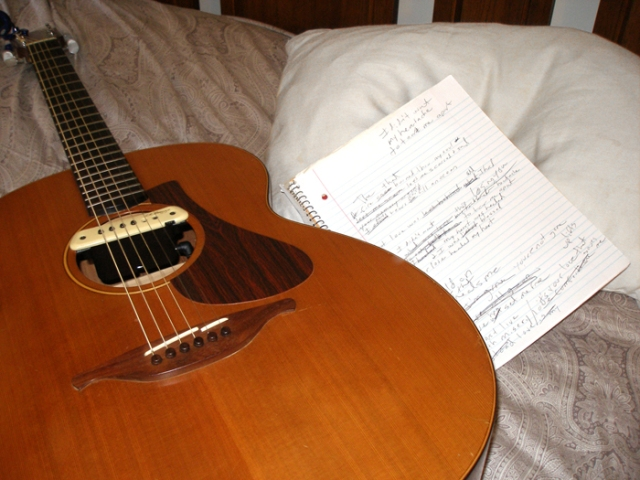 Songwriting is both mysterious and magical for me. A song is born when it reveals itself to me and the process is fantastic!