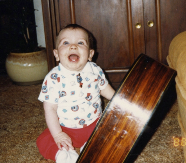 This is a picture of Jason as a baby. He died when he was five from a heart defect. Jason loved my guitar and music. After his death, I could not sing for a very long time.
