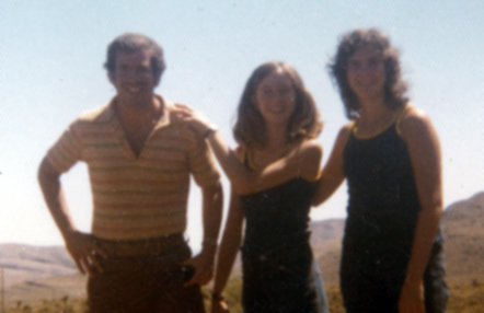 In this picture I am hiking with my childhood friend, Joni (in the center) and my brother, Norm is on the left. Joni encouraged me to play my guitar again after decades of it being in a dusty case.