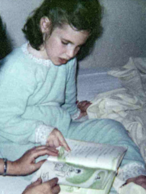 This picture is taken from my childhood. I loved reading as a child.