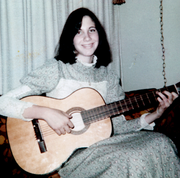 Playing my guitar at the age of 15.