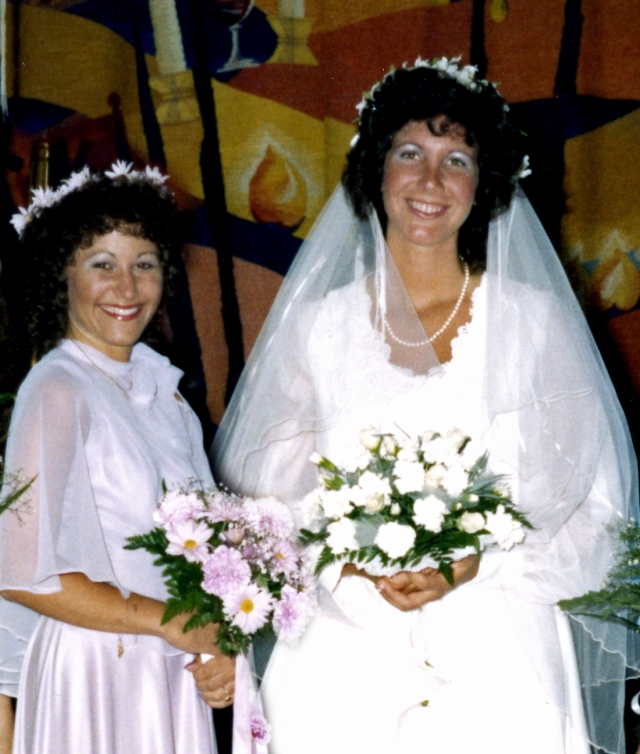 Cheryl and I at my wedding in 1981. Cheryl died five years ago from breast cancer.