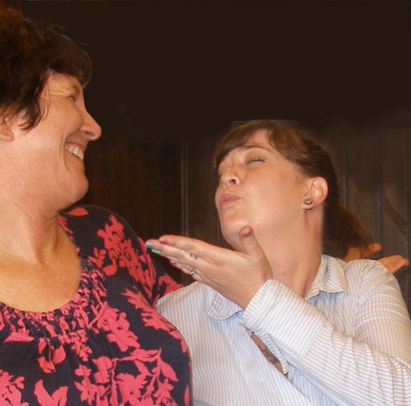 Judy & Melissa goofing off