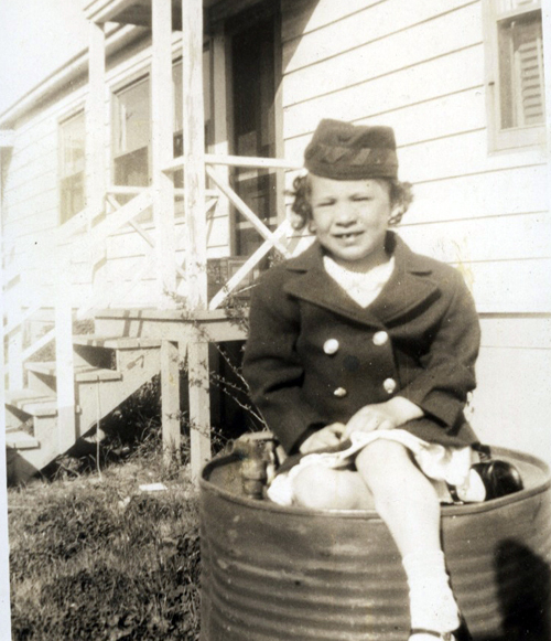 A picture of my mother as a child.