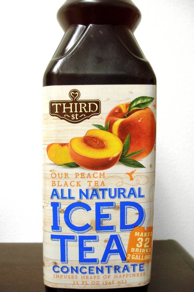 Peach Iced Tea label