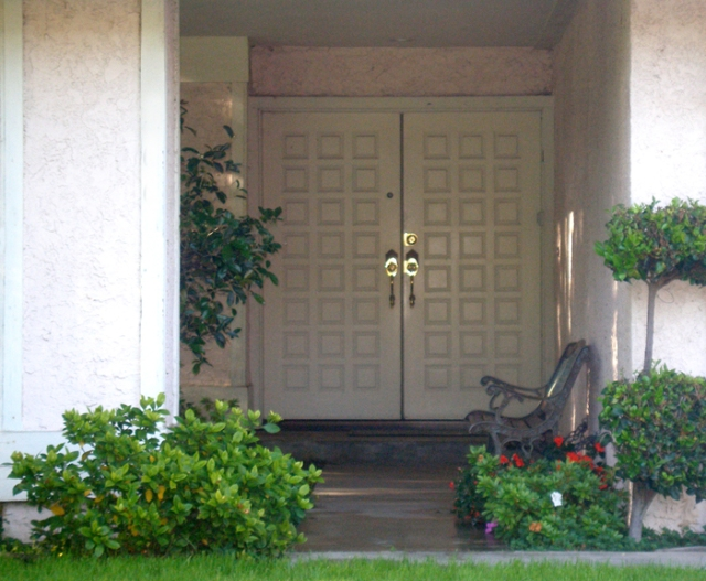 "This is the front door to my big and beautiful former home. I lived there for 18 years and I never imagined that my ""dream home"" would become my nightmare. The repairs and upkeep led to misery for my husband, which affected me deeply. I hated my home, and simply plodded onward because I had so many issues to deal with related to my children and parents. I lived in Zombieland for twenty years."