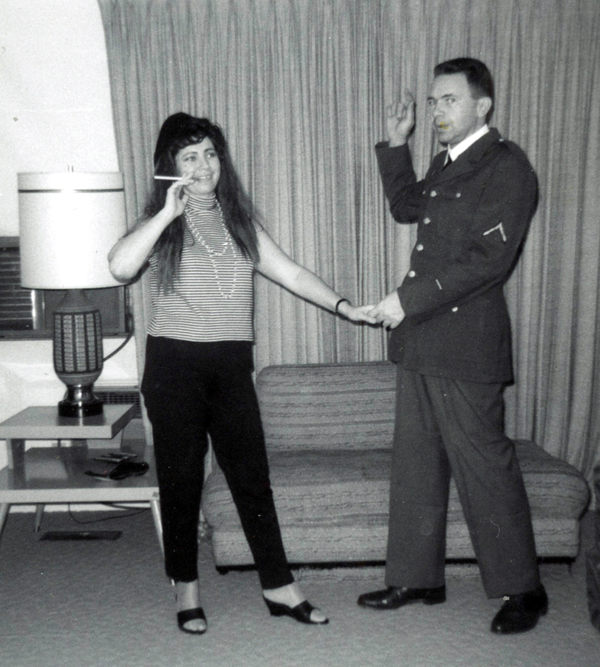 I love this funny picture of my parents that I know my dad instigated. They were probably going to a Halloween party.