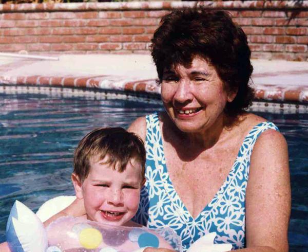 Jason & Shirley in pool