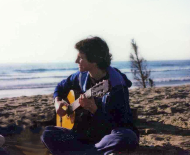 I really have played my guitar on countless shores. But I stopped for 30 years.