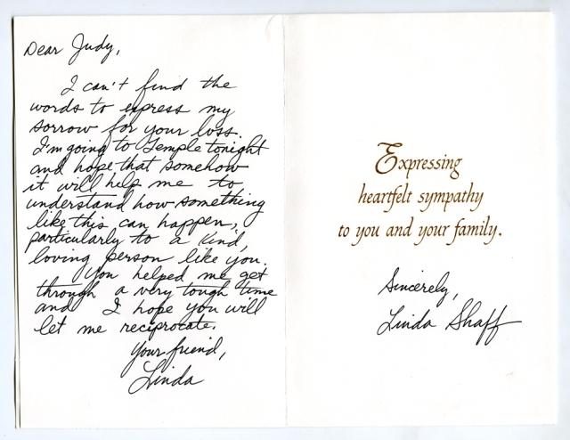 Linda Shaff card