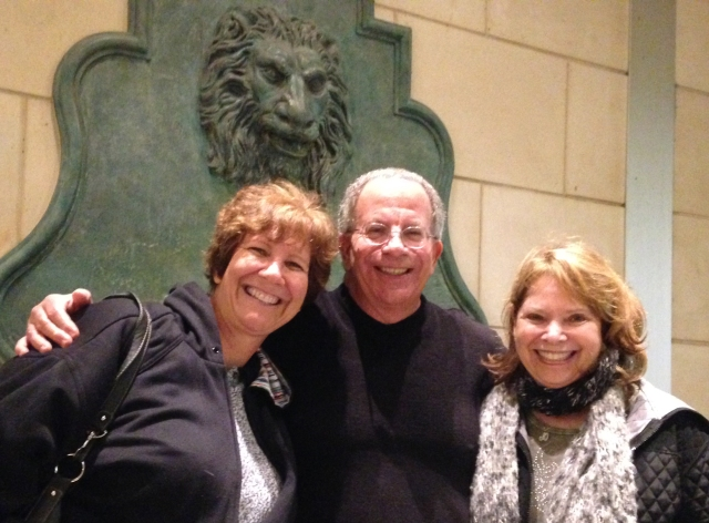 In this picture, I'm with my older brother, Norm and sister-in-law, Jo. Norm got me an excellent deal for the hotel room and joined my brood for dinner and a show.