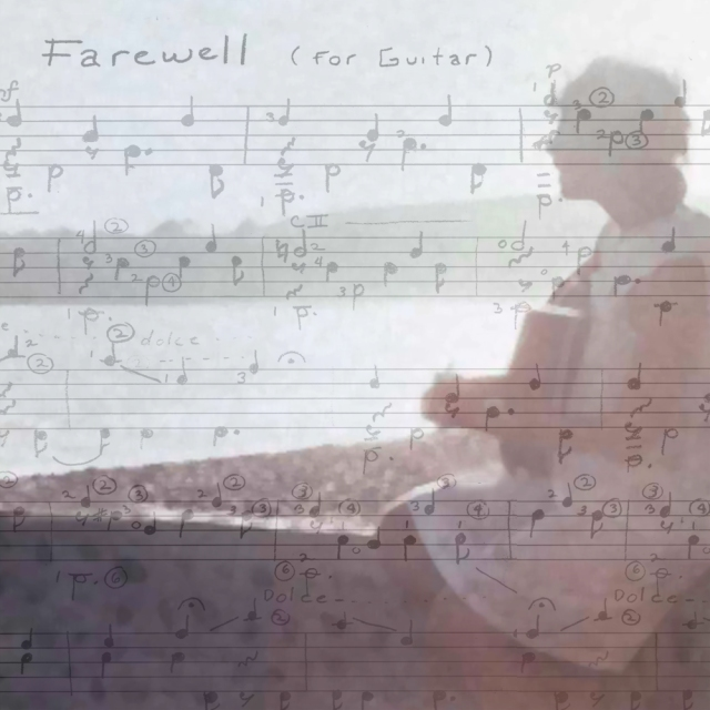 This is an image for my story cover of Farewell, a classical guitar piece I composed in college.
