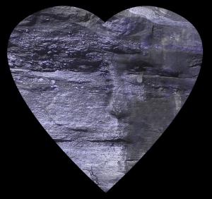 Heart Like Stone in Blue