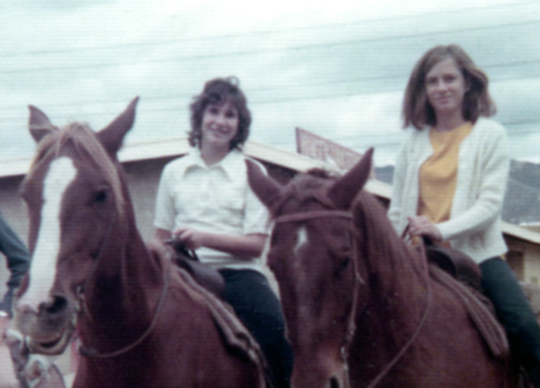 Judy & Joni horseback riding