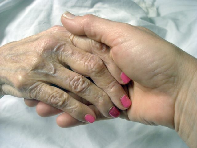 my hand and my mother's