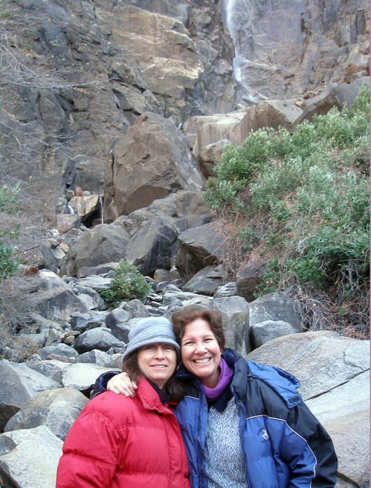 Judy, Joni and a waterfall
