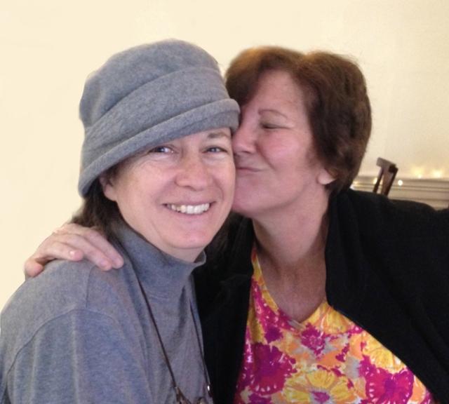 Judy kissing Joni