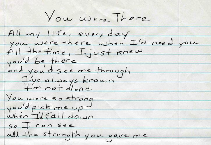 will be there lyrics: