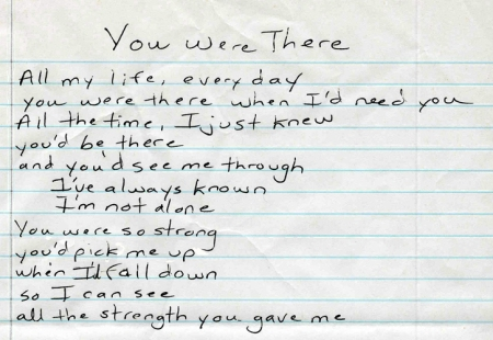 You Were There lyrics